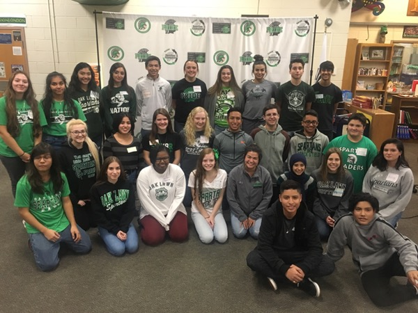The Students of Spanish 4 Honors posing for a photo after the event.