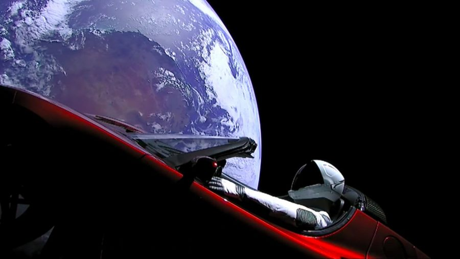 The SpaceX rocket launch was a success and the first car was sent into orbit ever.