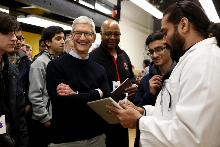 CEO Tim Cook unveiled the new plan Apple has for schools.