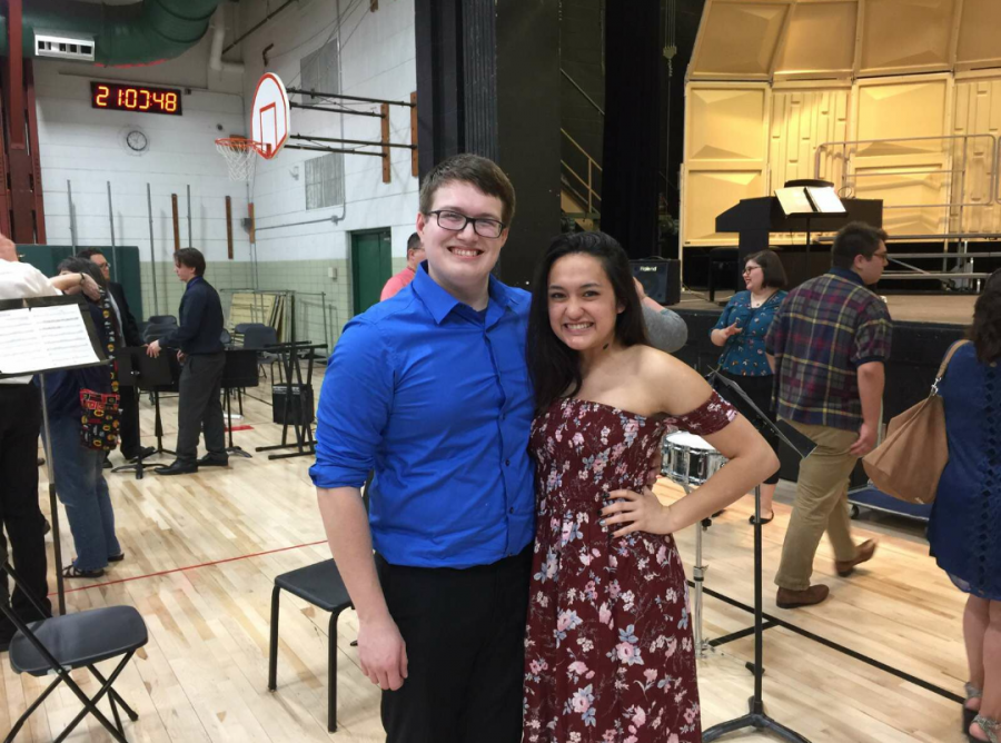 Senior+Tyler+Orel+and+junior+Mia+Menzel+celebrating+the+end+of+the+2017%2F2018+school+year+at+this+spring%E2%80%99s+Pops+concert.+%28Photo+courtesy+of+Mia+Menzel%29