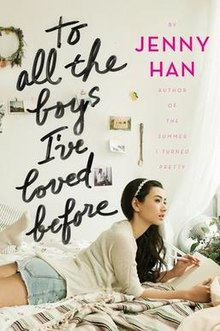 Book cover from the book 'To all the boys I've loved before' by Jenny Han.