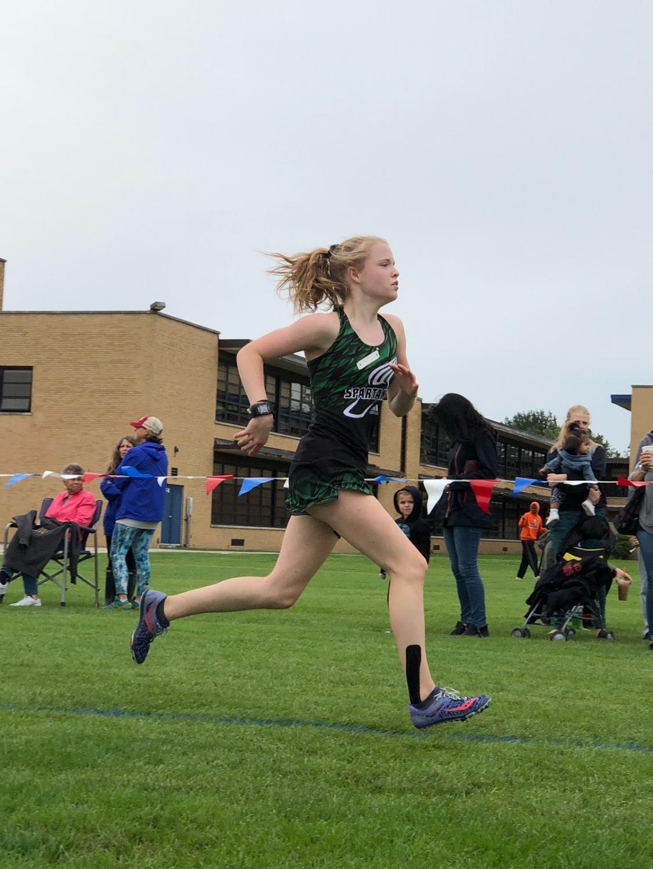 Spartan Cross Country runner.