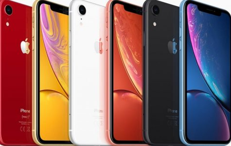 The various colors of the iPhone XR.