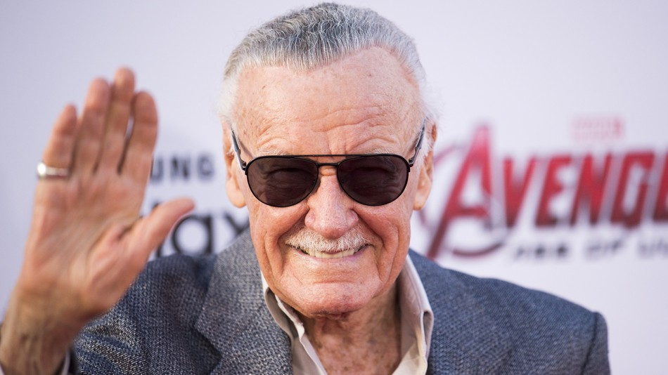 Stan Lee at the premiere of a Marvel movie.