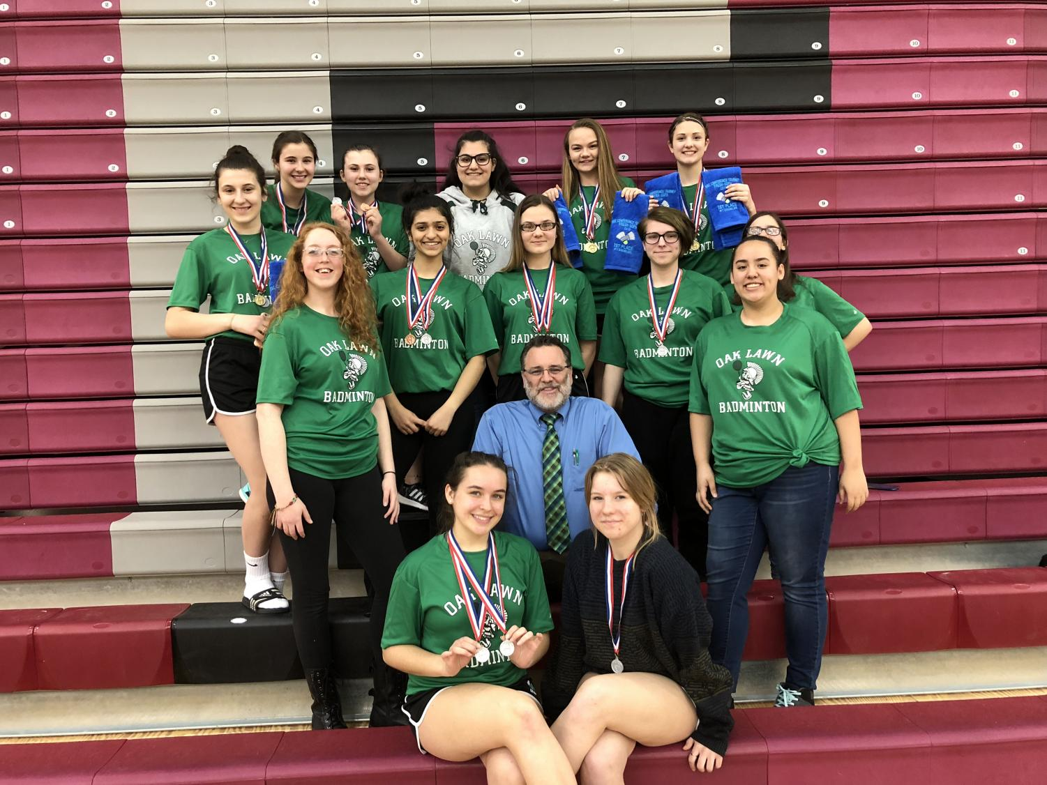 2018 Girls' Sophomore Badminton Team