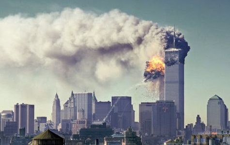 The Twin Towers of The World Trade Center burn in New York City on September 11, 2001.