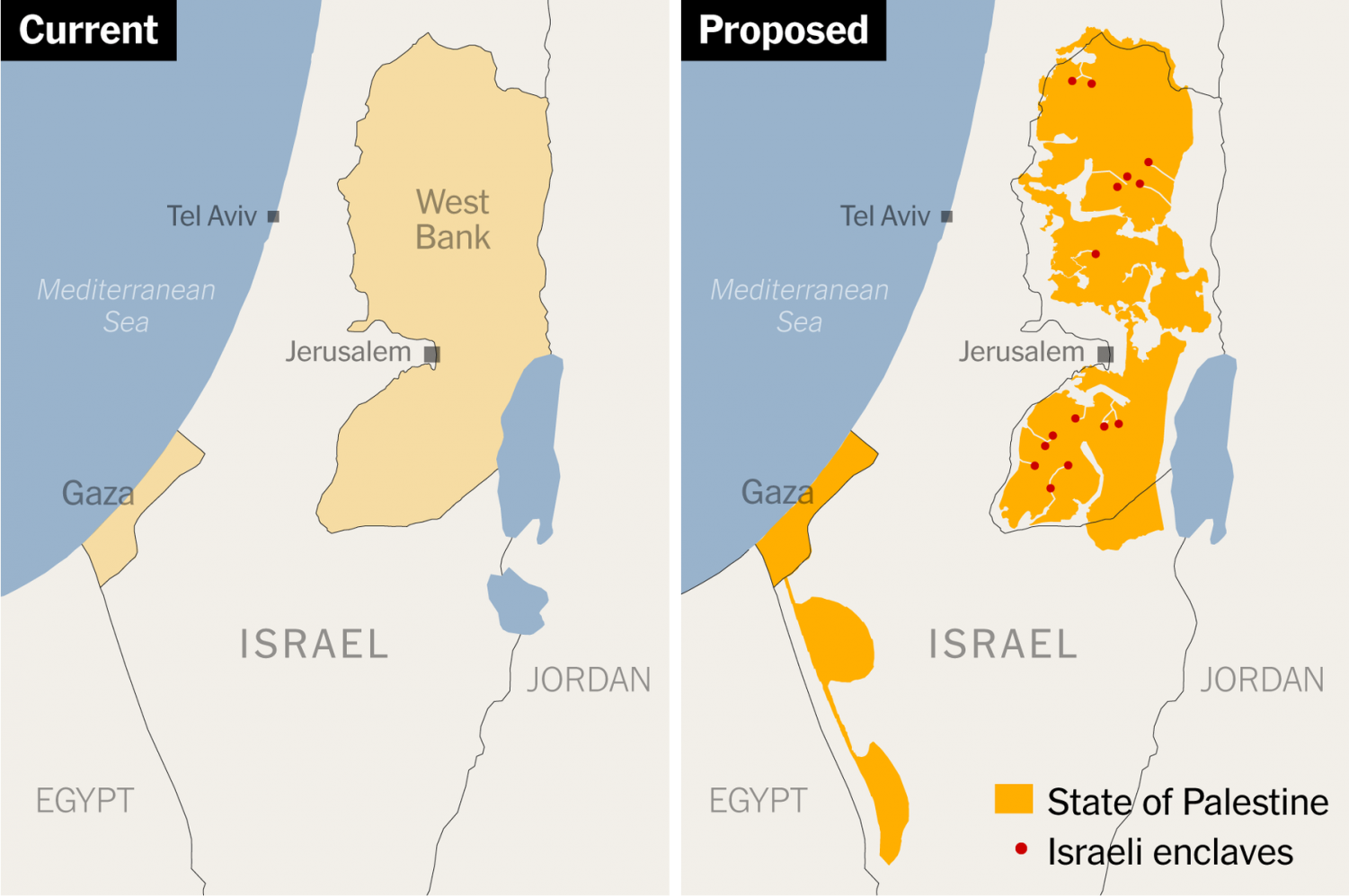 The new deal includes substance losses for Palestinian power in the West Bank